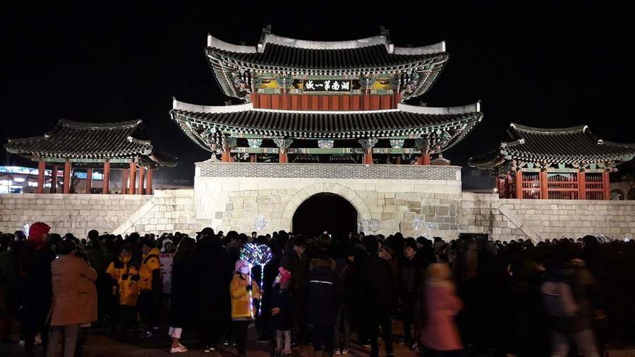 풍남문 EyeEmNewHere Night People Large Group Of People Travel Destinations Crowd Architecture Outdoors