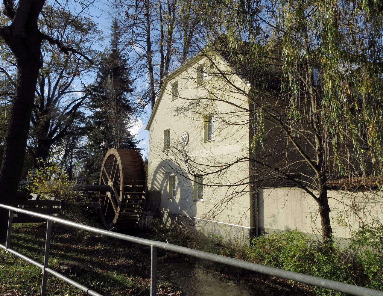 Matzmühle Abandoned Architecture Bare Tree Branch Building Exterior Built Structure Day Fence Historic House Leading Low Angle View Matzmühle Narrow No People Old Outdoors Residential Structure Ruined The Way Forward Tree