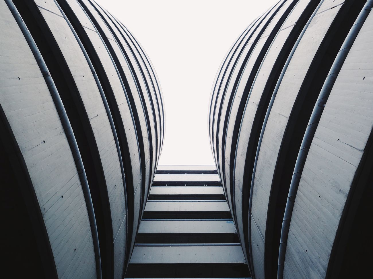 Repetition Architecture Built Structure Close-up Parking From My Point Of View View From Below Looking Up Architecture_collection Minimalism Minimalobsession Geometric Shape Urban Geometry at Basel, Switzerland Black And White