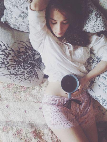 Girl Laying In Bed Morning Vintage EyeEm Bestsellers