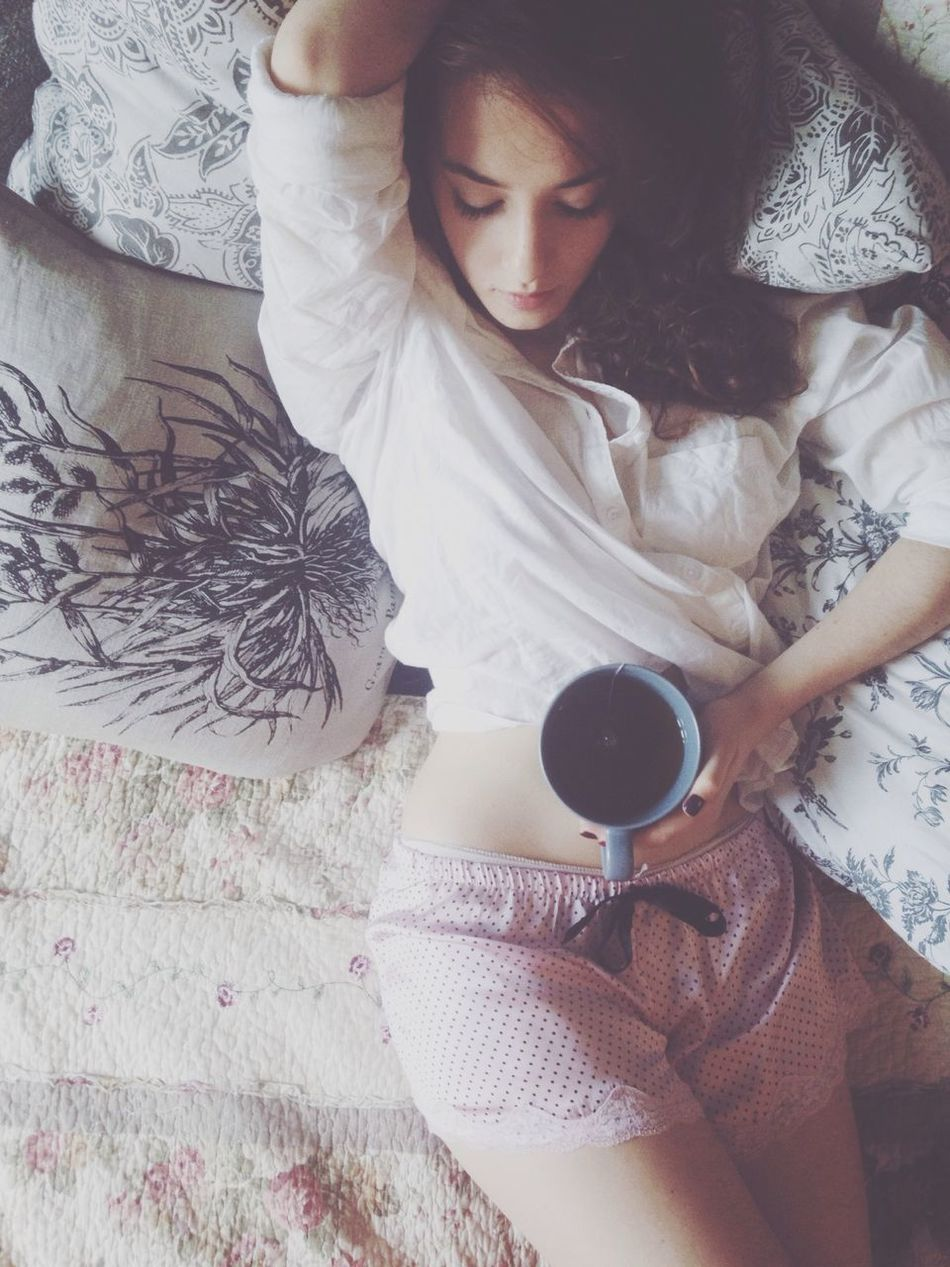 Beautiful stock photos of cup, Austria, Auto Post Production Filter, Beautiful Woman, Bed