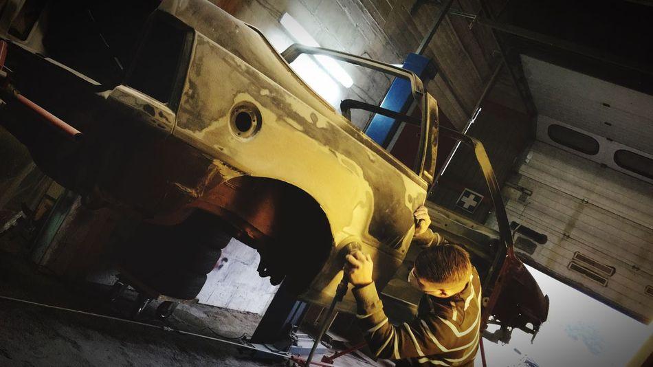Wir bauen dann mal nen neuen radlauf 🤗 @ work am Kadett vom Besten Transportation Industry Close-up Indoors  Horizontal No People Aerospace Industry Day Kadett Karosserie Metall
