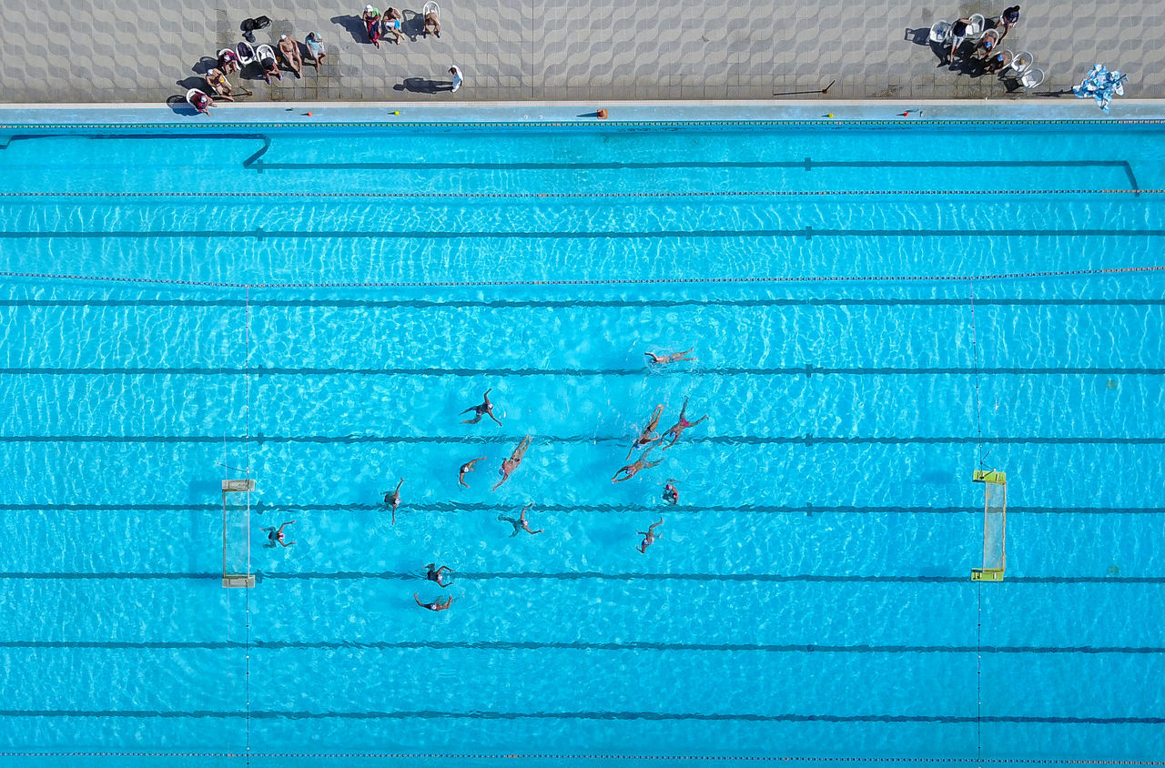 Blue Day No People Outdoors Swimming Lane Marker Swimming Pool Water