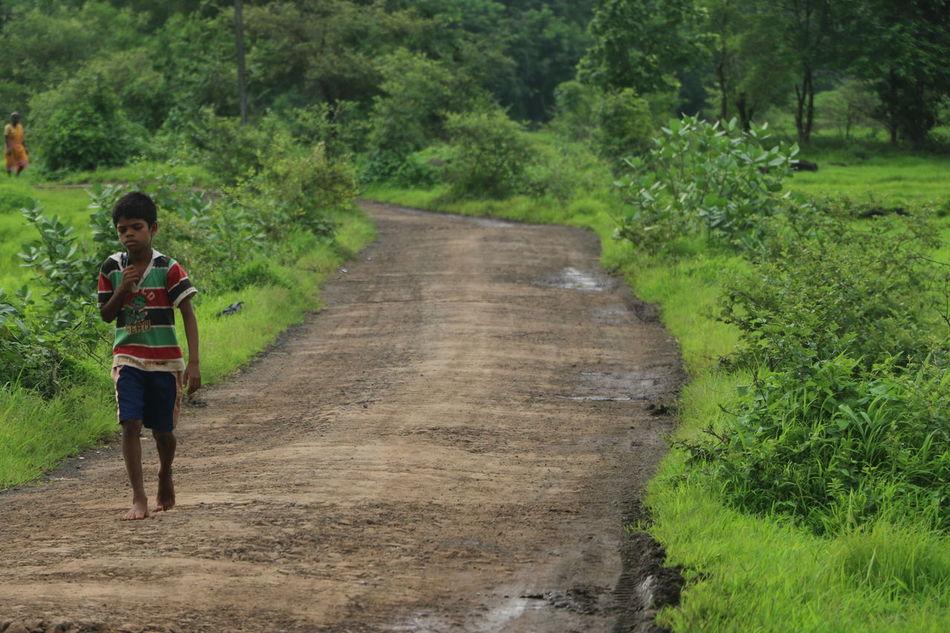 #Carefree #Child #path #rainyday #Road #ruralexploration #travel