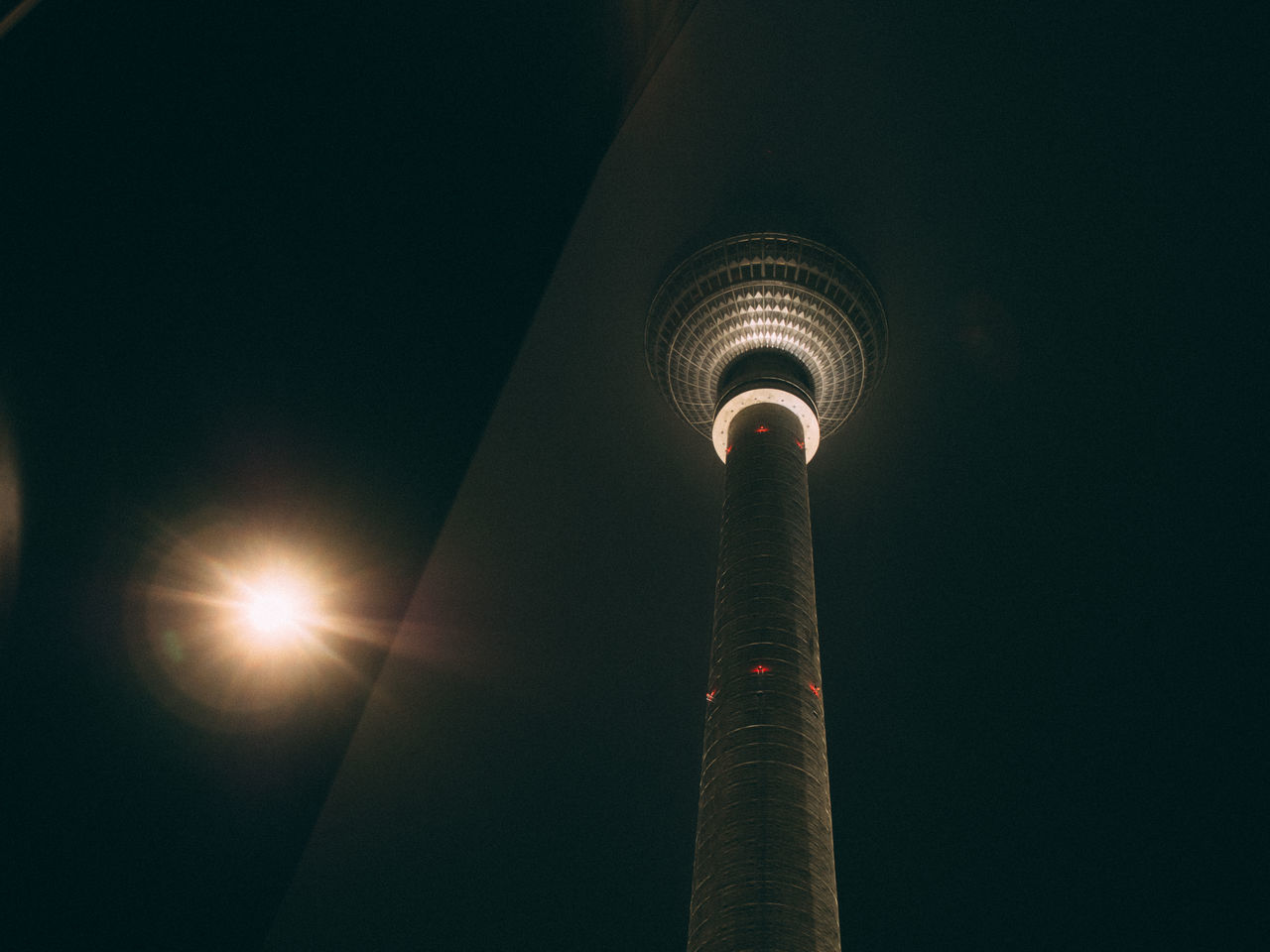 Architecture Berlin Building Exterior Built Structure City Fernsehturm Illuminated Low Angle View Night No People Sky Tower