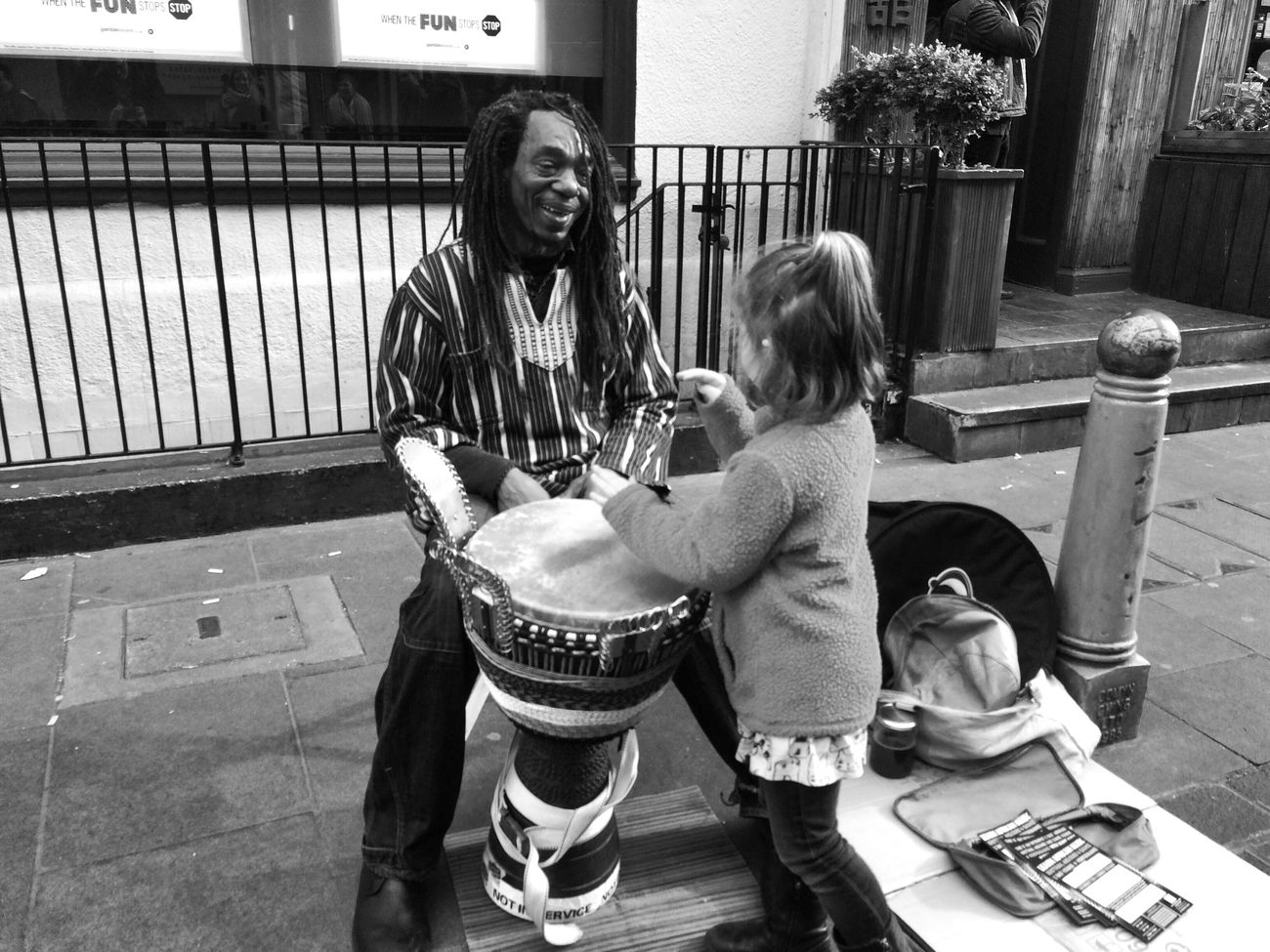 Bang the drum EyeEm Best Shots - The Streets Streetphoto_bw Blackandwhite Photography NEM GoodKarma