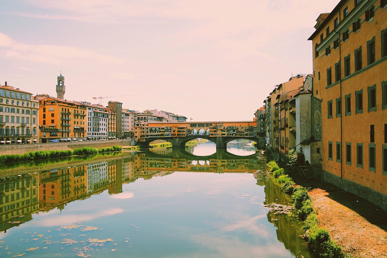 Architecture Building Exterior Reflection Water Built Structure Waterfront Sky Canal Outdoors No People Day City Nature Firenze Florence, Italy Florence Italy Firenze With Love Firenze, Italy Travel Destinations Firenzeview City Pontevecchio Pontevecchiobridge Pontevecchiofirenze PonteVecchio Florence