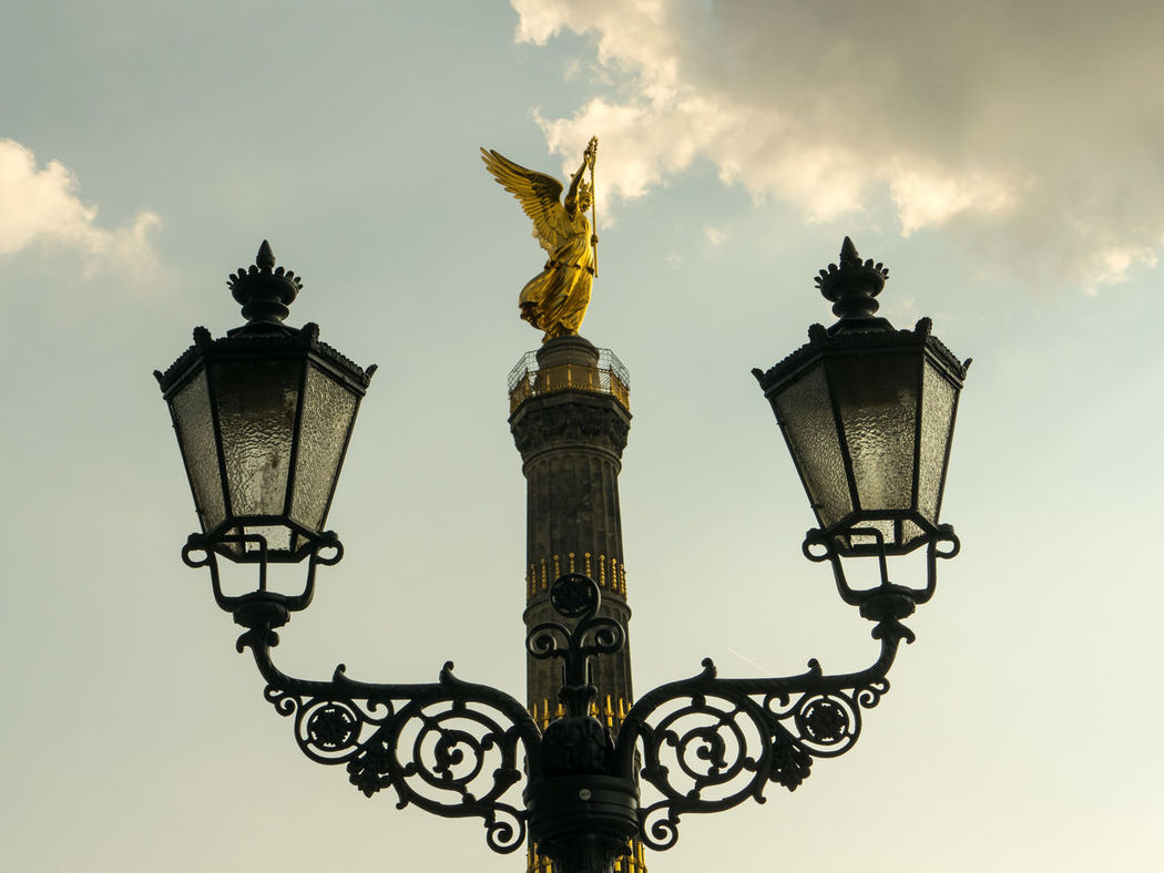 Berlin Siegessäule Architecture Berlin City Cultures Gold Golden Angel Monument No People Outdoors Siegessäule Berlin Sky Statue Travel Destinations