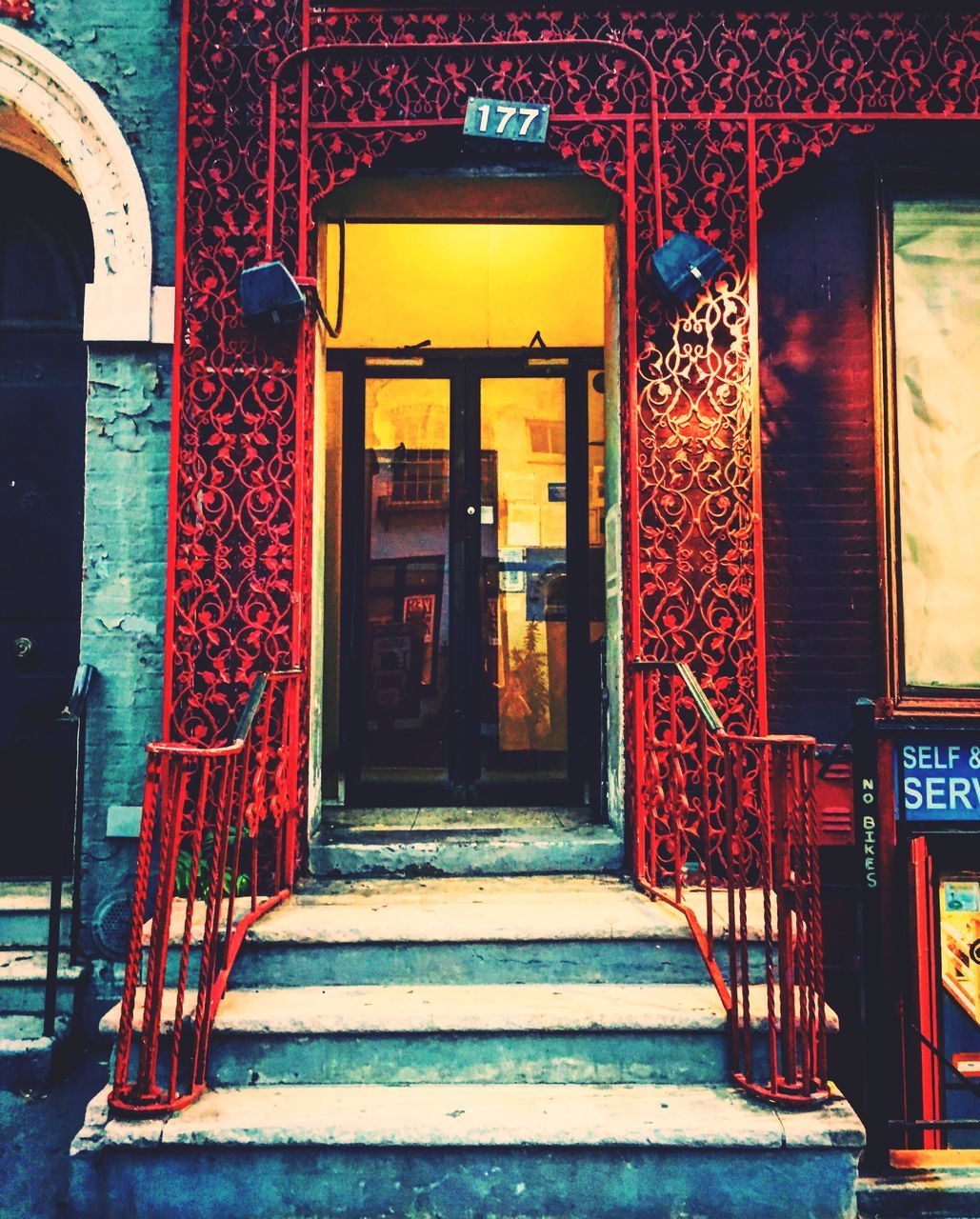 entrance, architecture, built structure, door, red, doorway, day, no people, outdoors, entry, building exterior