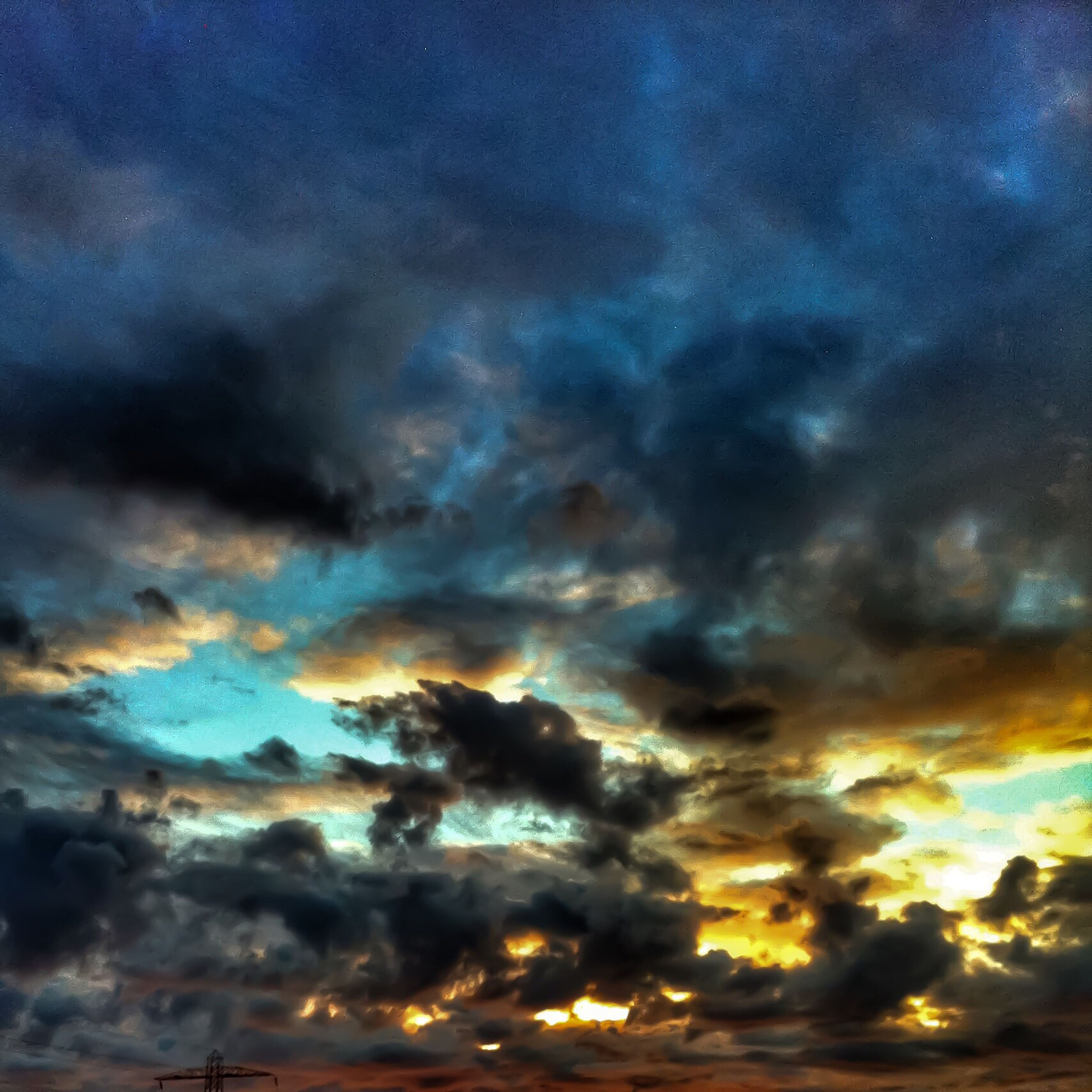 sky, cloud - sky, cloudy, beauty in nature, sunset, dramatic sky, scenics, cloudscape, low angle view, tranquility, weather, tranquil scene, sky only, nature, overcast, cloud, storm cloud, atmospheric mood, idyllic, majestic