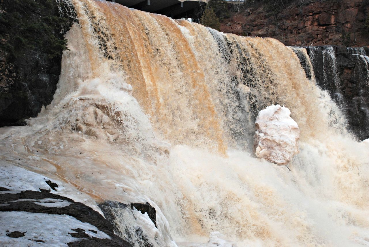 Gooseberry Falls, State Park (MN, US) Water Waterfall Early Spring Ice Out