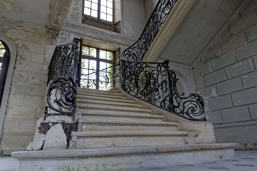 Abandoned Abandoned & Derelict Abandoned Places Architecture Built Structure Castle Château Château Des Singes Day Exploration Exploring History Indoors  Low Angle View Moth4fok No People Railing Staircase Stairs Steps Steps And Staircases Urbaine Urban Urbex Window The Architect - 2017 EyeEm Awards EyeEmNewHere Sommergefühle EyeEm Selects Your Ticket To Europe