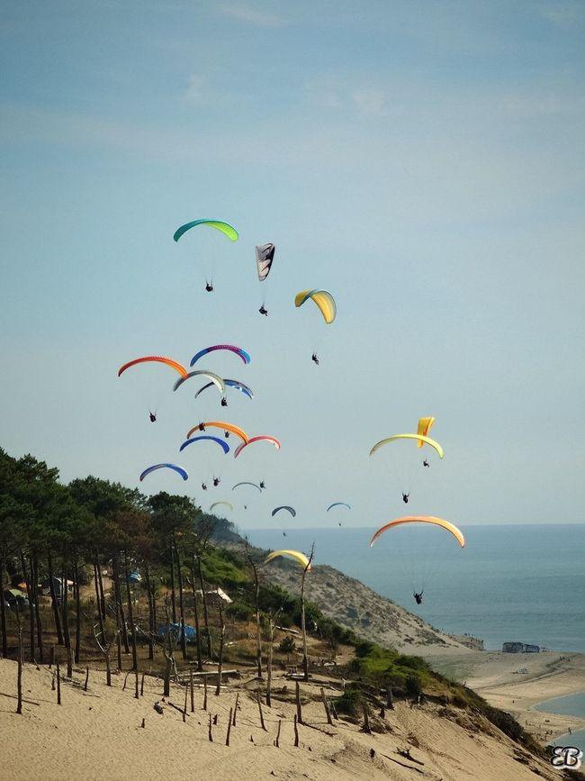 Dune Du Pyla France Parapente Multi Colored Beach Freedom Fun Tourism Colorful Extreme Sports Eyem Best Shots The Week On Eyem EyeEm Gallery EyeEm Best Edits