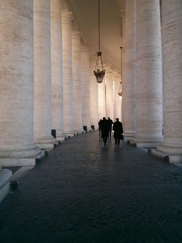 Vatican conversations. · vatican city columns Going for a walk Wandering people talking seriousness silence EyeEm Best Shots ;)