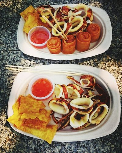 Show Us Your Takeaway! Squid Streetfood Thailand Nicetime