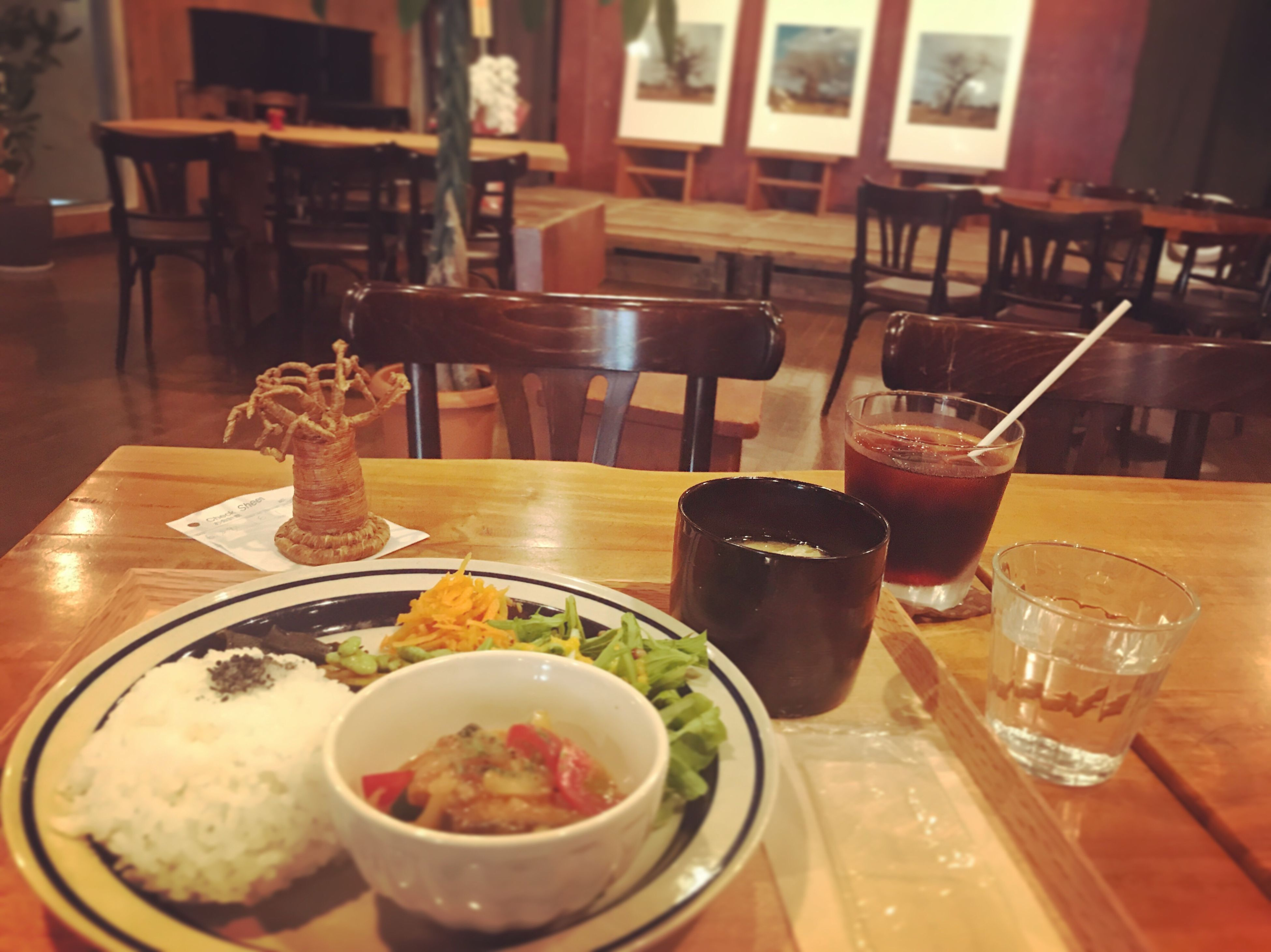 Food And Drink ポレポレ東中野 ポレポレ座 Cafe Lunch Time! Plated Food 映画の前にポレポレプレート Alone Time Luxurylifestyle  Relaxing
