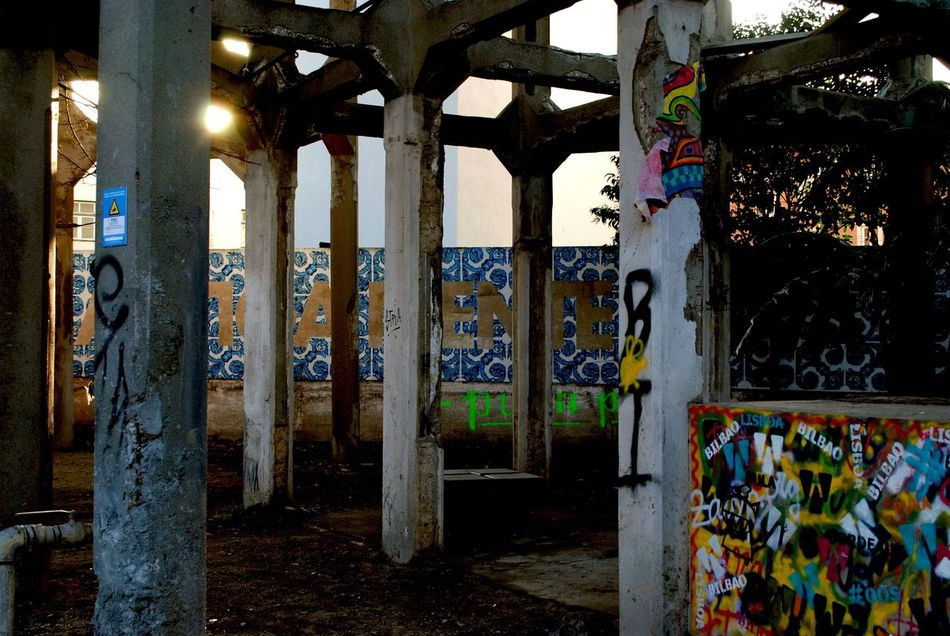 The City Light Architectural Column No People Indoors  Day Grafiti Lisboa Portugal Art Lisbon Lx Factory City February Built Structure Beauty In Nature Architecture Building Exterior The City Light