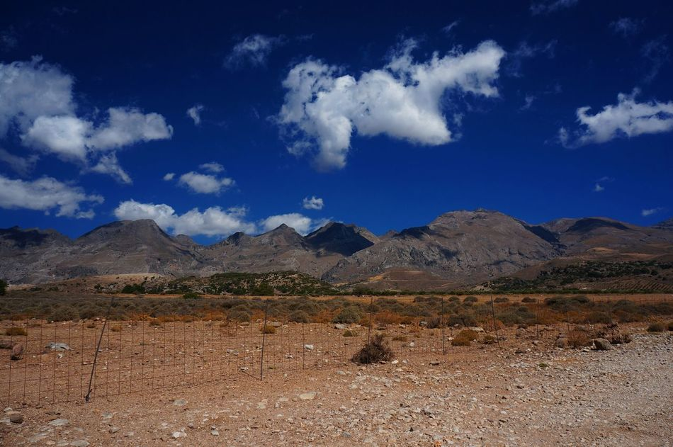 Beauty In Nature Blue Circular Polarising Filter Cloud - Sky Crete Day Dry Land Frangokastello Landscape Leisure Mountain Mountains Nature No People Outdoors Polarising Filter Scenics Sky And Clouds Tourism Travel Traveling