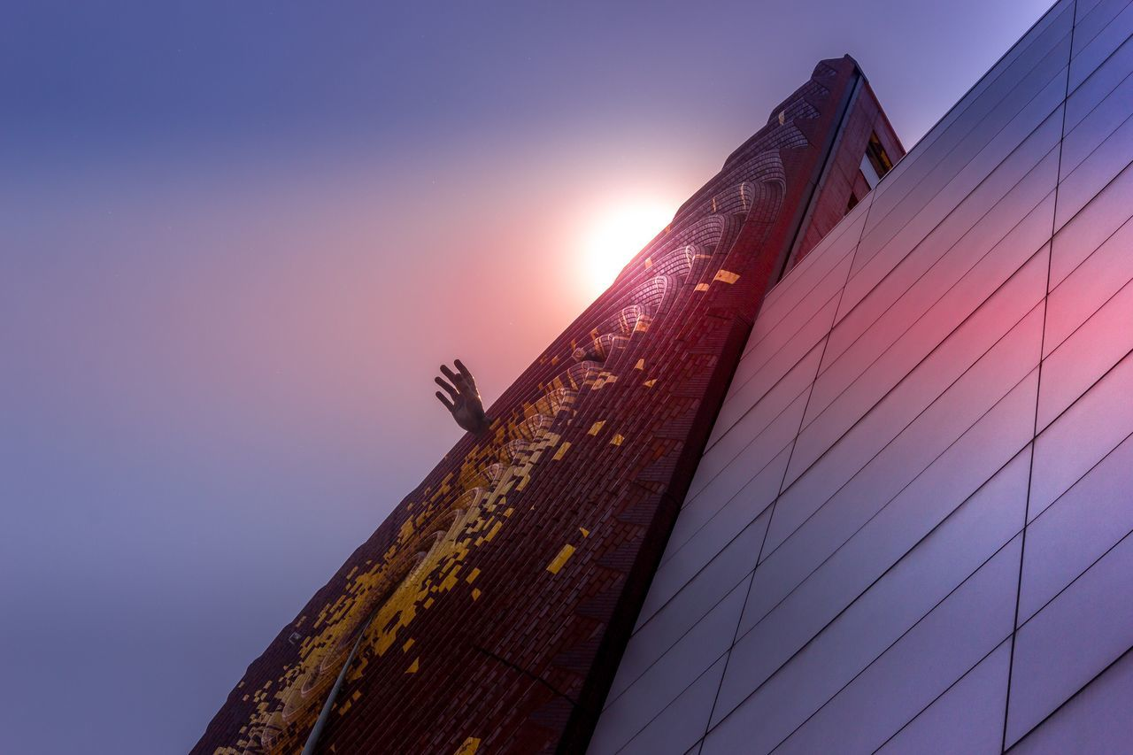 Low Angle View Built Structure Architecture Sunset No People Sky Building Exterior Outdoors Day Nature Hand Ladyphotographerofthemonth