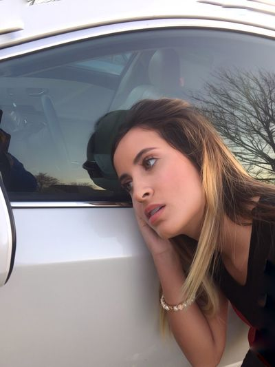 Woman Portrait Looking In The Mirror Mirrow On The Wall Tell Me Your Secrets Car Mirror Woman Portait Long Hair Pretty Girl The Drive