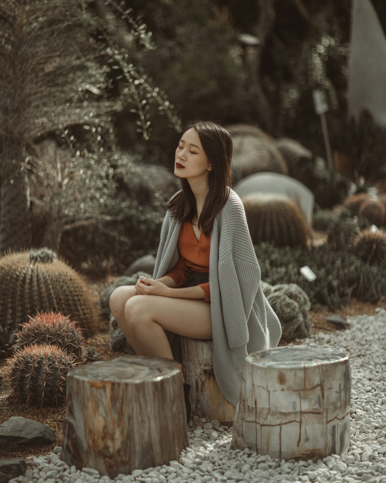 Enchanted Contemplation One Woman Only Beauty Portrait Nature Outdoors Beauty In Nature Travelling Wanderlust Traveller Adventure Women Around The World Natural Light Portrait Portrait Of A Girl Beautiful People Portrait Of A Woman Garden Garden Photography Plants