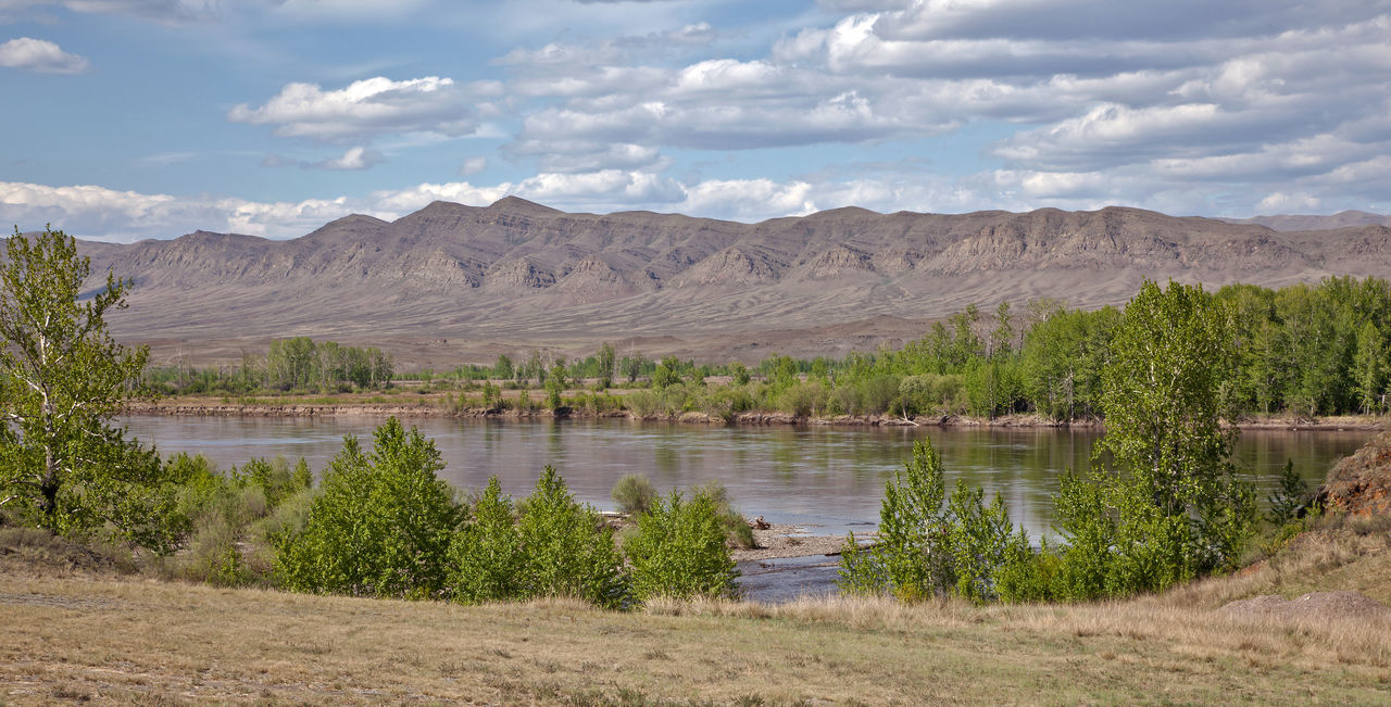 River Yenisei Russia Yenisei River Beauty In Nature Clouds Landscape River Scenics Siberia