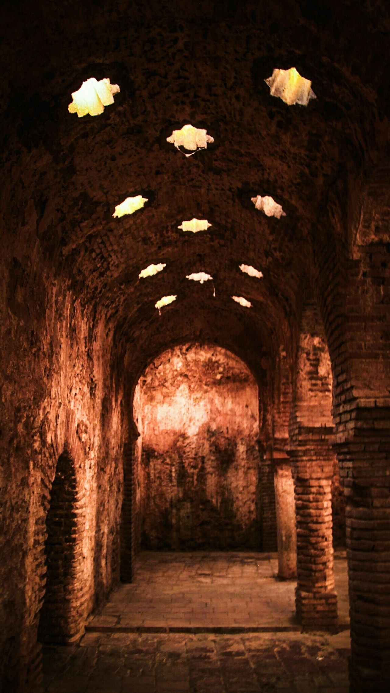 Indoors  Tunnel No People Illuminated Ancient Civilization Travel Ronda Baños árabes Ronda, Malaga EyeEm Gallery Check This Out Architecture Arabic Architecture Arabic Style