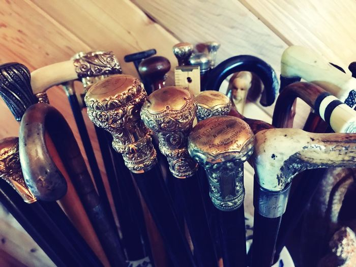 Walking canes Walking Cane Many clusters Variation Indoors  No People Close-up Choice Table Large Group Of Objects Day