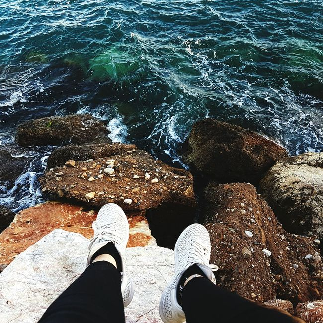 Sea Waves Greece Relaxing Blue Rocks STAN SMITH Athens