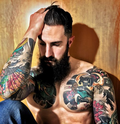 Tattoo Tattooed That's Me Beard Beardlife Tattooedmen Bearded Body & Fitness Tattooman Beardstyle Man With Tattoo Beardporn Rockabilly ManWithTattoos Tattoed Boy Beardedlifestyle Beardedguy ThatsMe Beardgang Italianbeard Manphysique Beardman Tattoos Tattoomodels Tattoomodel