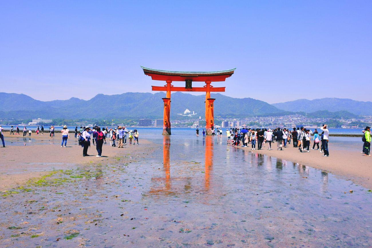 TORII Miyajima Japanese Shrine Itsukushima Shrine 世界遺産 Hiroshima 干潮
