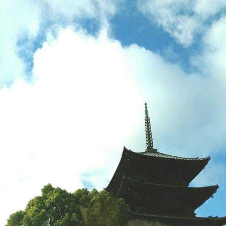 東寺(Toji temple) #temple #Kyoto #Japan #cloud #sky #イマソラ Sky Temple Kyoto Cloud Japan イマソラ