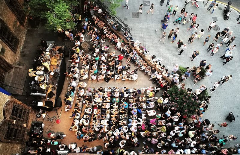A Bird's Eye View Celebration Concert Photography High Angle View City Life Celebration High Angle View Large Group Of People Event Messy City Life