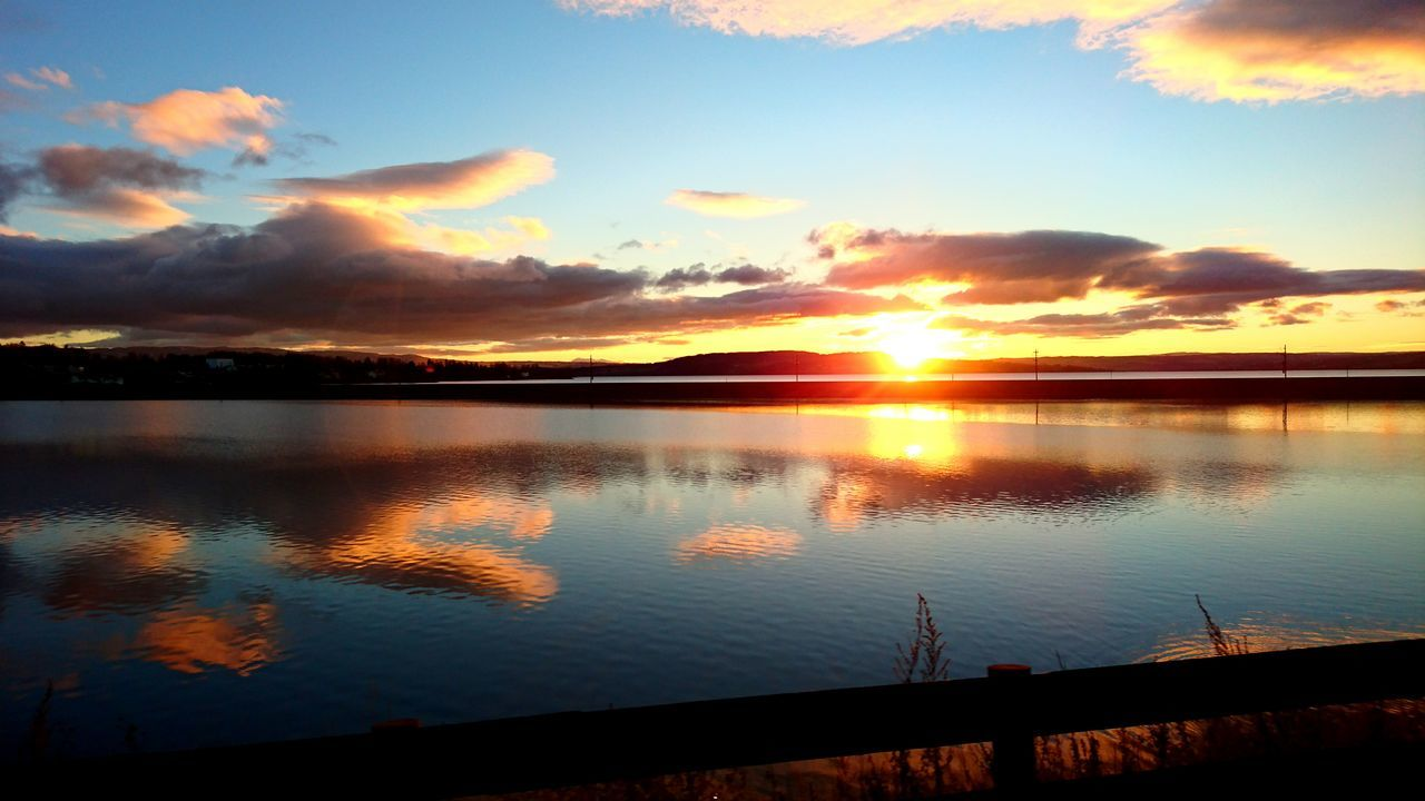 Mjøsa, hamar Sunset Reflection Nature Outdoors Water Lake Beauty In Nature Sky Cloud - Sky Sunlight Sun Scenics