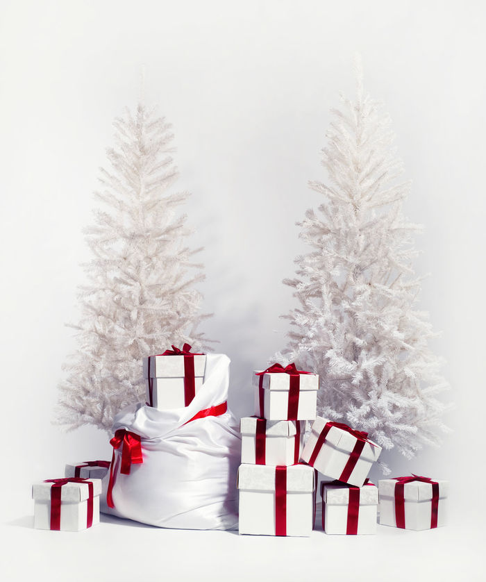 Christmas trees with heap of gift boxes over white background Beautiful Celebration Christmas Christmas Time December Holiday Merry Christmas! New Year Winter Xmas Xmas Tree Background Boxes Christmas Collection Christmas Decoration Christmas Tree Decoration Decorative Gift Boxes No People Nobody Present Seasonal Studio Shot Xmas Time