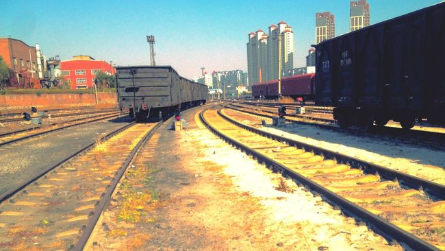 Vanishing Point Changchun Changchun, China Traveling In China Train Tracks Railway Railyard Railroad Urban Landscape Trains