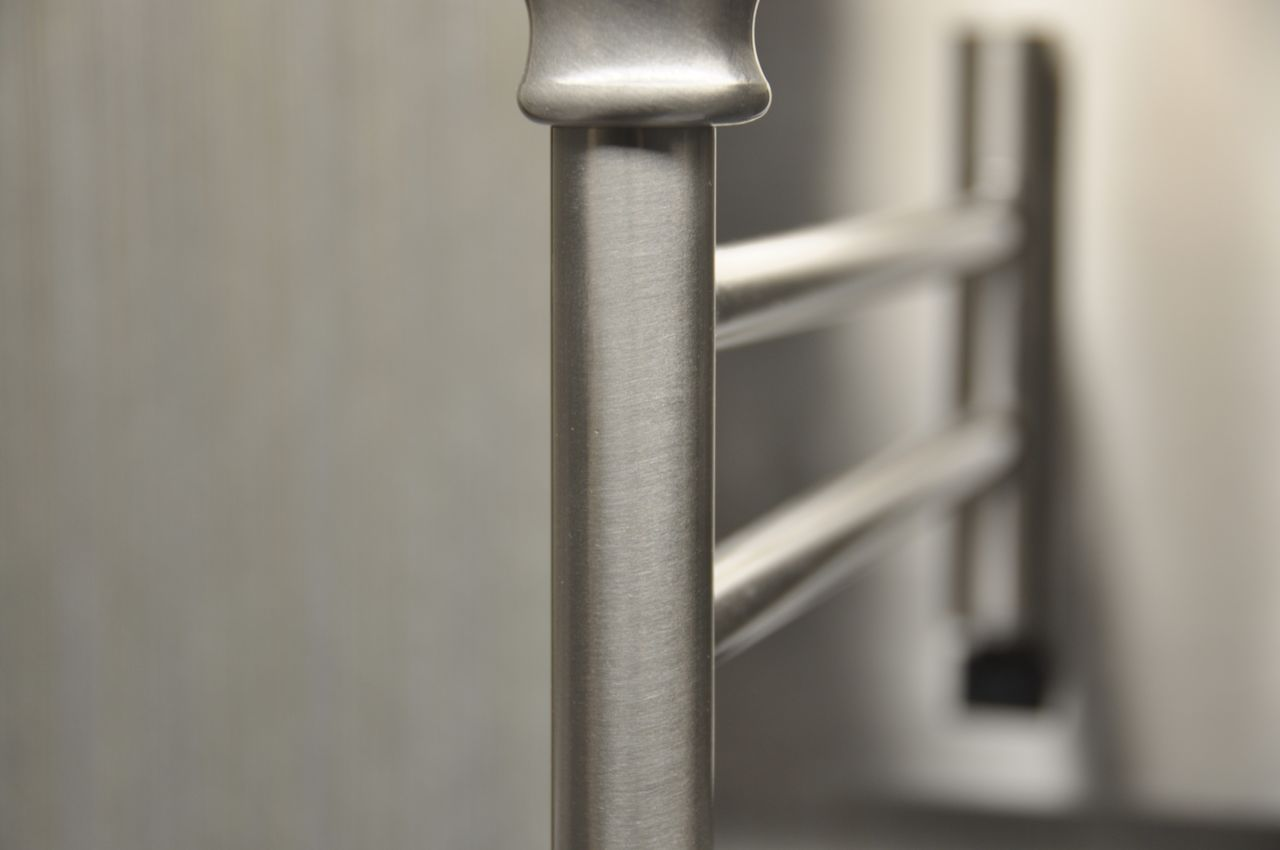 metal, close-up, selective focus, no people, indoors, day