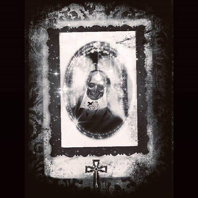 Mementomori Death Nun Darkart Photomanipulation Skulls