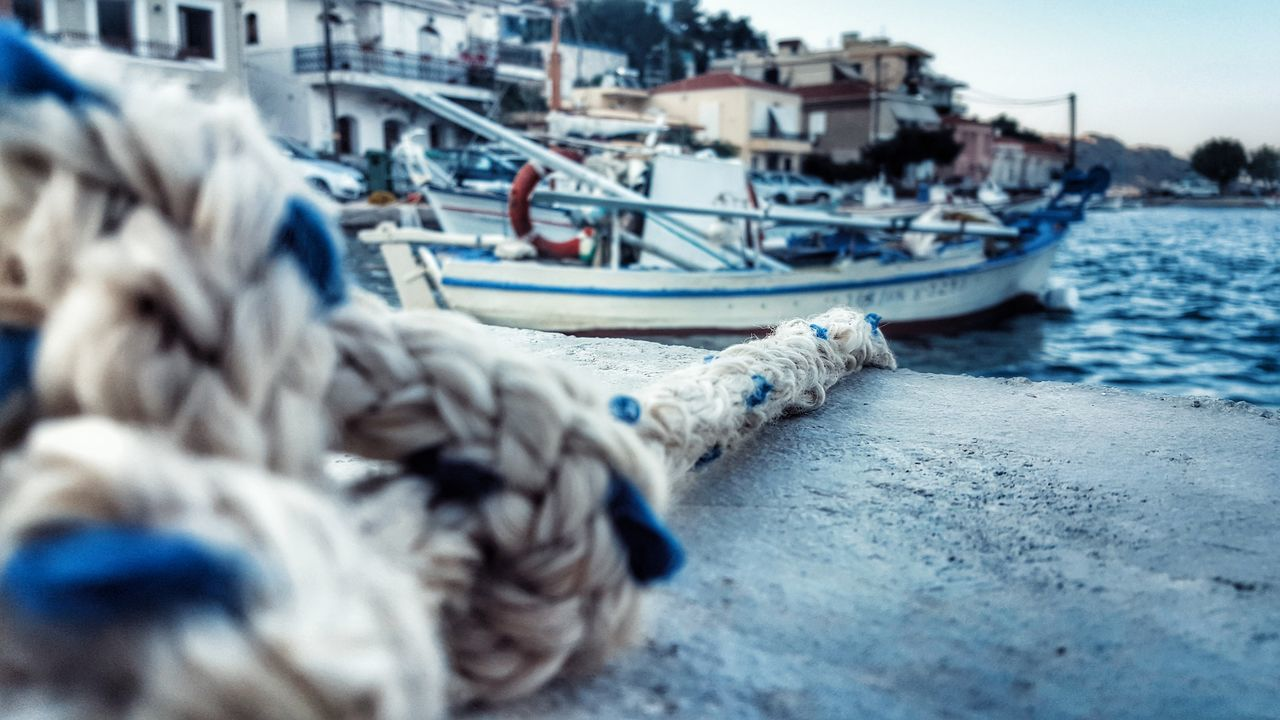 Rope Close-up Port Life Fishing Port From My Point Of View Selective Focus Focus On Foreground Blurred Background Fishing Village Fishing Boats Textures And Surfaces Ropeway Rope Swing Learn & Shoot: Leading Lines Learn & Shoot: Balancing Elements Malephotographerofthemonth Showcase June GrungeStyle Low Angle View Low Angle Shot StillLifePhotography Fishing Boat - Greek Islands Chios Greece