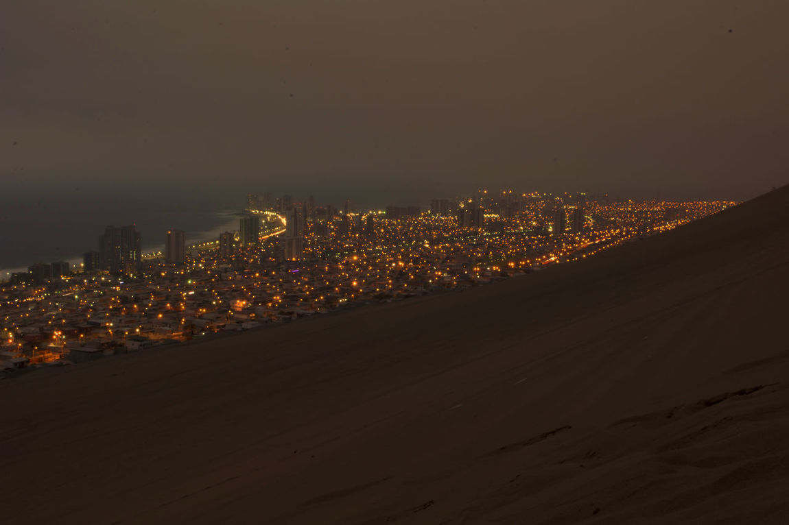 Top of the Dragon Cerrodragon Desert Desierto Iquique Chile Nightphotography Cityscape Citylights Tarapaca