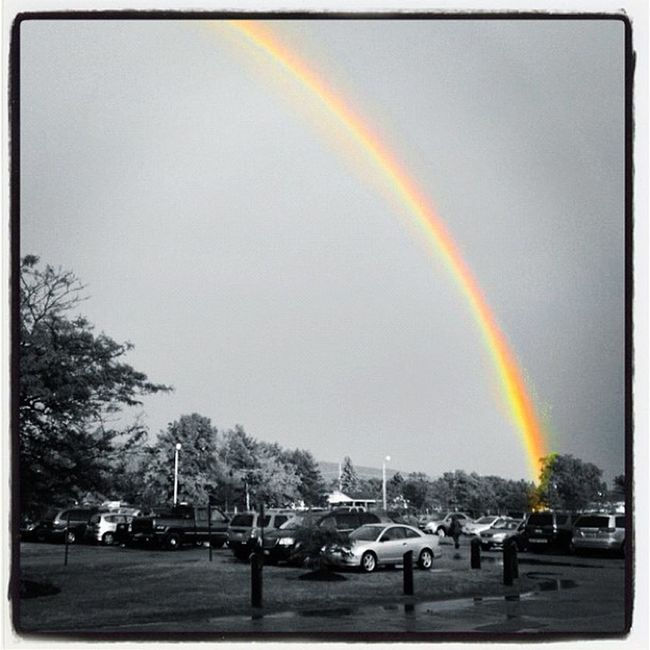 Selective Rainbow. #miltonvt #btv #vt Vt_scenery Vermont_scenery Weather 802 IPhoneography Miltonvt Rainbow Vt_scene Storm Selective Color Vermont_scene Awesome High_school Bw Highschool Selective Color Vermont Mhs  Instagood Vt Btv