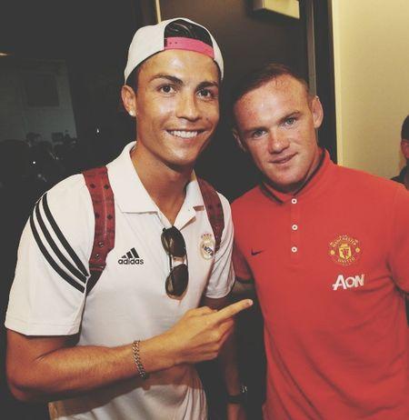 Football Player Football Training CristianoRonaldo and Wayne Rooney