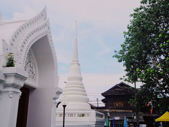 Architecture Built Structure Building Exterior Sky Religion Low Angle View Outdoors Day Place Of Worship No People Tree