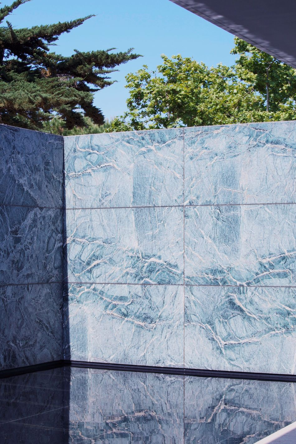 Adapted To The City Barcelona Pavilion Mies Van Der Rohe No People Day Tree Outdoors Nature Sky Architecture Pavilion German Pavilion Marble Stone Wall Beauty Reflection Water Low Angle View Pattern Marble Wall Open Edit Art Barcelona Barcelona, Spain