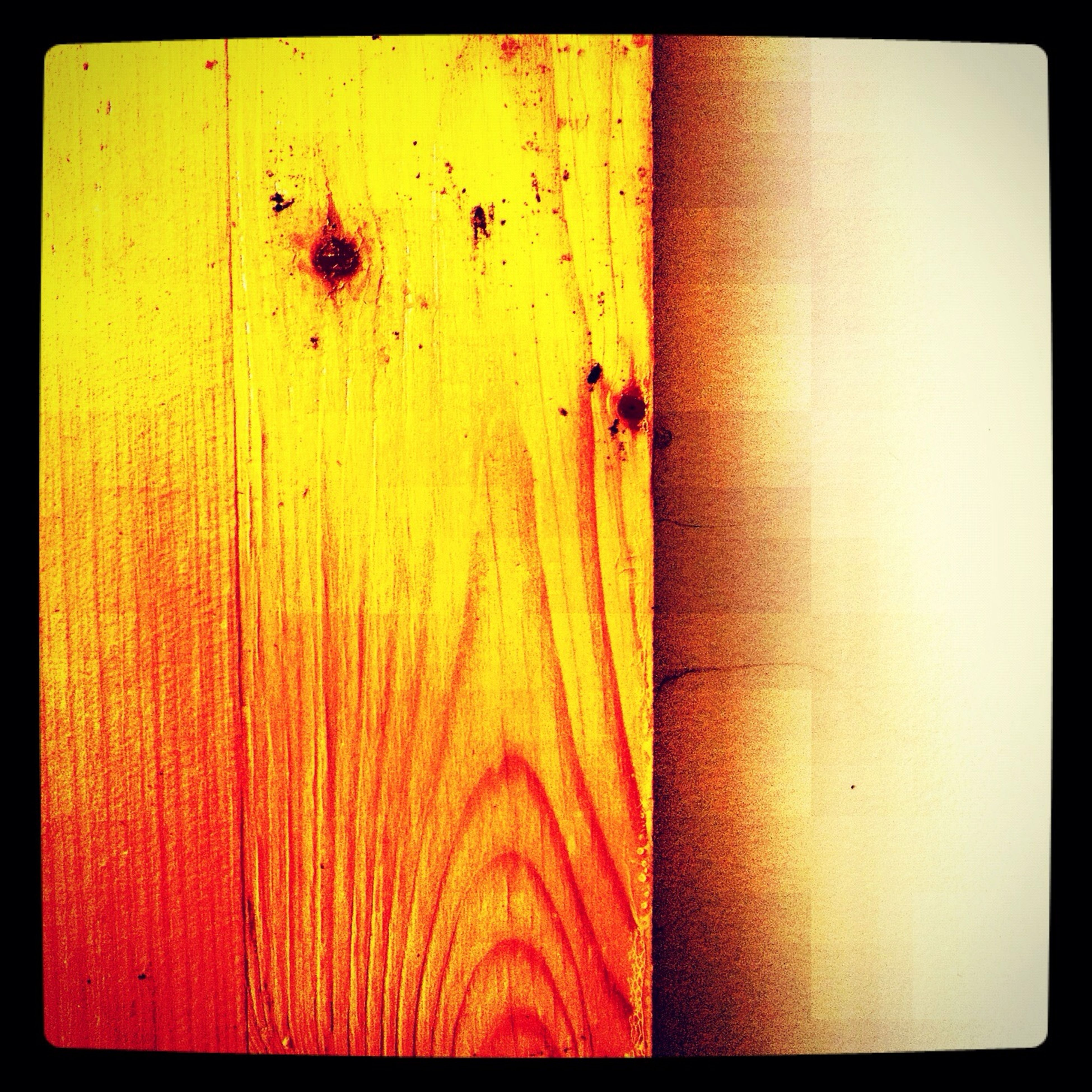 transfer print, auto post production filter, full frame, close-up, textured, backgrounds, yellow, wood - material, wall - building feature, weathered, pattern, red, wall, plank, wooden, orange color, no people, wood, detail, brown