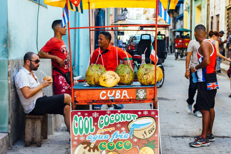 City Life Coconut Cuba Collection Cuban Cuban Food  Cuban Life Drinking Getting Inspired Kiosk Lifestyle Men Outdoors Sell Streetphotography