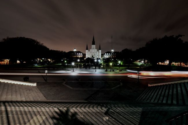 Blurred Motion Church Jackson Square Long Exposure Louisiana New Orleans Night Nightsky Fresh On Eyeem