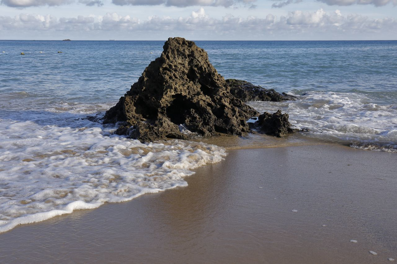 Nature Photography Ocean View Rock Beach Beauty In Nature Cloud - Sky Day Horizon Over Water Nature Nature_collection No People Ocean Outdoors Rock - Object Sand Scenics Sea Sea And Sky Seascape Seaside Sky Tranquil Scene Tranquility Water Wave