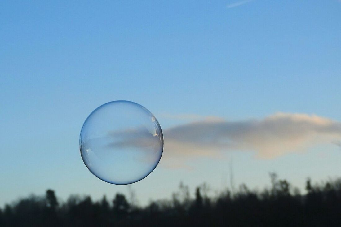 Bubble soap Blue Tree Sky Outdoors No People Taking Pictures Taking Photos Clear Sky Bubbles In The Sky Bubble Childhood Memories Childhood Toys Soap Bubbles Soap Bubble Soapbubblephotographie Soap Bubble In The Sky Soap Bubbles💖