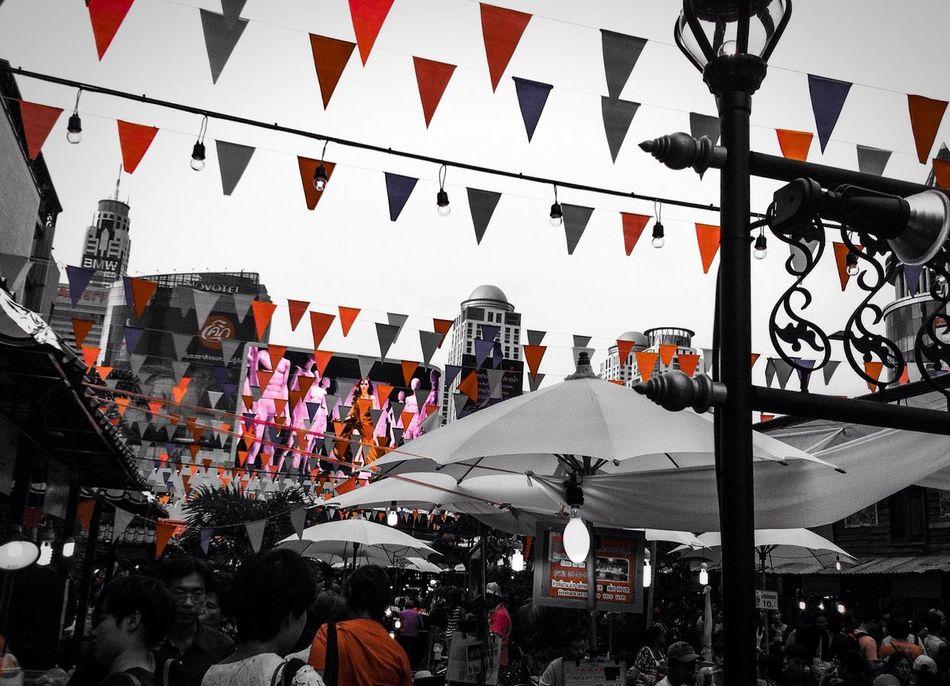 Red Only Food Fair Flags Lcd Monitor @Bangkok Varee Fest celebrate 234 years of founding Bangkok.